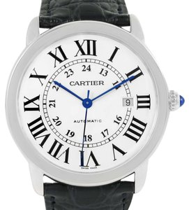 Cartier Cartier Ronde Solo Silver Dial Stainless Steel Date Watch W6701010