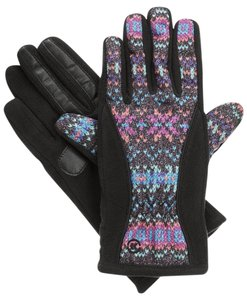 6479c9aed Isotoner Geometric Matrix Fleece Nylon smarTouch THERMAflex Gloves S XS
