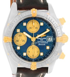 Breitling Breitling Windrider Cockpit Steel Yellow Gold Blue Dial Watch A13357