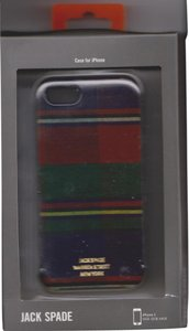 Jack Spade Kate Spade Hardshell Hybrid Black/White Stripe Case Cover iPhone 5/5S