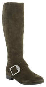 Via Spiga Equestrian Knee High Olive Green Boots