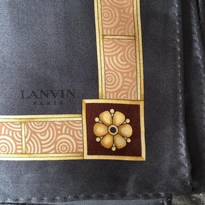 Lanvin NEW LANVIN Silk Pocket Square scarf