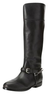 Pour La Victoire Equestrian Leather Knee High Tall Black Boots