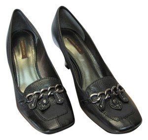Antonio Melani Leather Size 9.00 M Black Pumps