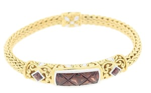 John Hardy John Hardy 18k Yellow White Gold Tourmaline Weave Cable Bracelet