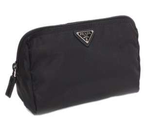 Prada Prada Vela Square Nylon Beauty Bag Cosmetic Makeup Case - Black