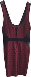 Foreign Exchange short dress Black And Hot Pink on Tradesy