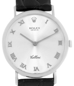 Rolex Rolex Cellini Classic Mens 18k White Gold Roman Dial Watch 4112