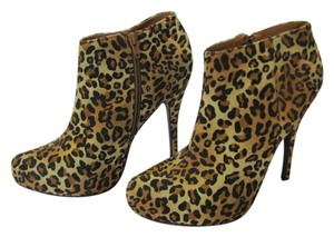 Charlotte Russe Size 8.00 M Animal Design Very Good Condition Neutral, Brown, Black Platforms