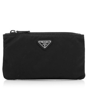 Prada Prada Vela Square Nylon Bag Cosmetic Makeup Case - Black