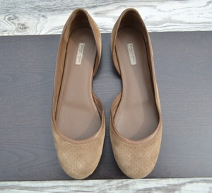 Bottega Veneta Perforated Suede brown Flats