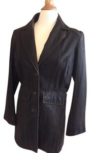 Isabella Bird dark brown Leather Jacket