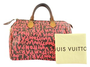 Louis Vuitton Fuchsia Pink Graffiti Limited Edition Sprouse Satchel in Hot Pink