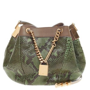 Chloé Chloe Python Cross Body Bag