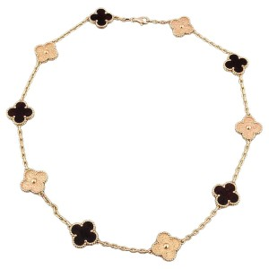 Van Cleef & Arpels VAN CLEEF & ARPELS Necklace 10 Motif 18K Rose Gold Bois D'Amourette