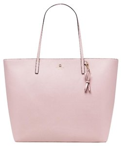 Kate Spade Leather Gold Hardware Spring Tote in Pink