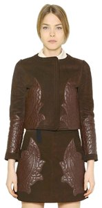 Chloé Veda Balenciaga Acne Burberry Brown Leather Jacket