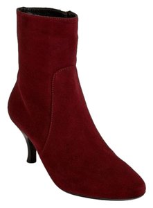 Aquatalia by Marvin K. Suede Leather Burgundy Boots