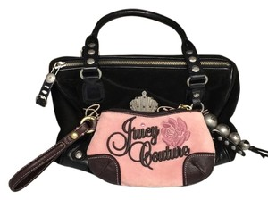 Juicy Couture Satchel in Black and pink