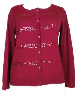 Christopher & Banks Sequins Petite Holiday Sweater