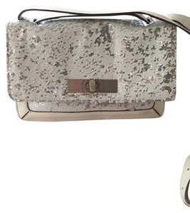 BCBGMAXAZRIA Sequin Leather Leather Cross Body Shoulder Bag