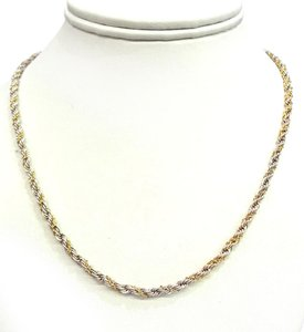 Tiffany & Co. Tiffany & Co Vintage Sterling & 18K Gold Rope Necklace 18
