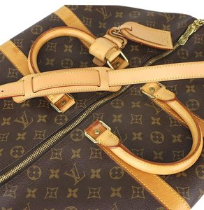 Louis Vuitton Lv Keepall Keepall Bandouliere Lv Keepall 45 Keepall 45 Monogram Keepall With Strap Brown Travel Bag