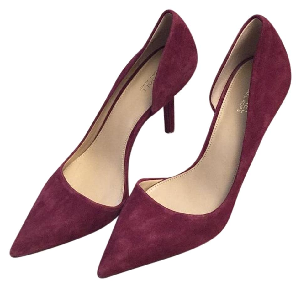 e6663ce7798 MICHAEL Michael Kors Burgundy Pointed Toe Half D'orsay High Pumps Size US  7.5 Regular (M, B) 73% off retail