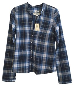 abercrombie kids Top Blue Plaid