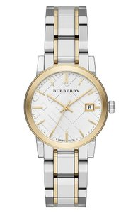 Burberry Burberry Women's Swiss Two-Tone 34mm Stainless Steel Bracelet Watch