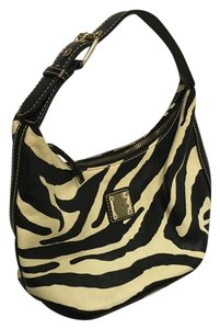 Dooney & Bourke Leather & Zebra Pattern Shoulder Bag