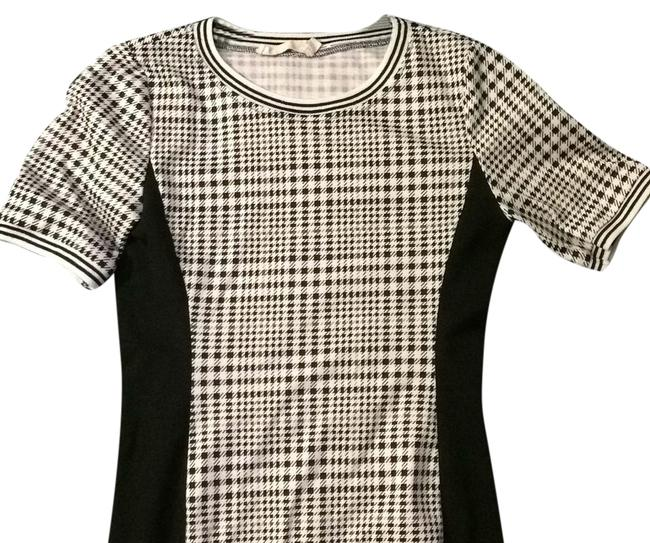 Item - Black & White Above Knee Short Casual Dress Size 4 (S)