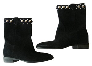 Michael Kors Suede Leather Studded Black Boots