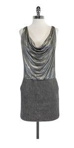 Nicole Miller short dress Silver Sleeveless Cowl Neck on Tradesy