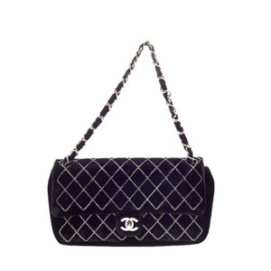Chanel Velvet Shoulder Bag