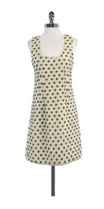 Calypso short dress Cream Felted Wool Polka Dot on Tradesy