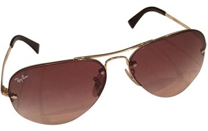 Ray-Ban Classic Ray Ban Semi Rimless Aviator Sunglasses