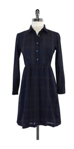 Steven Alan short dress Navy Brown Plaid on Tradesy