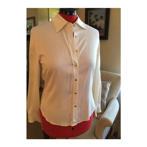 St. John Button Down Shirt Ivory