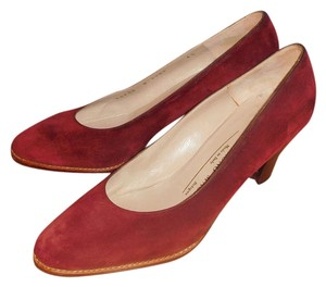Bruno Magli Suede Heels Cranberry Pumps