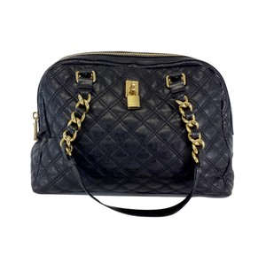 Marc Jacobs Large Black Quilted Leather Hobo Bag