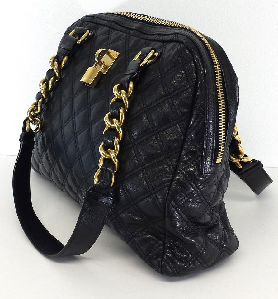 010041001fa0 Well known Marc Jacobs Large Quilted Black Leather Hobo Bag - Tradesy WI92