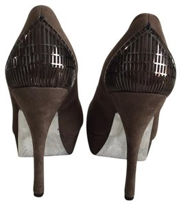 Halston Brown Platforms