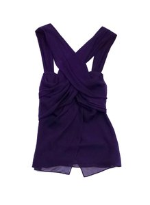 Diane von Furstenberg Purple Silk Draped Top