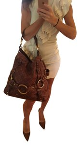 Isabella Fiore Leather Hardware Hobo Bag