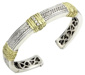 Judith Ripka Judith Ripka Pia Cuff Bracelet in Sterling Silver and Yellow Gold