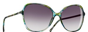 Chanel 5344 CC Logo Square Round Signature Multicolor Blue Oversized Cateye