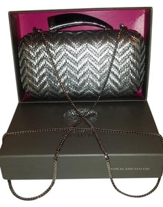 Vince Camuto Great Gift Idea Camuto Evening Too Prom Or Formal LNIOB Platinum Silver Clutch