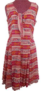 Passports by Pier One short dress Red, Pink, Yellow, White Print Boho Batik on Tradesy