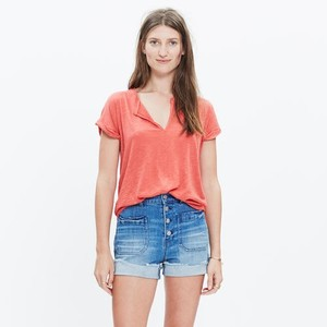 Madewell T Shirt Coral